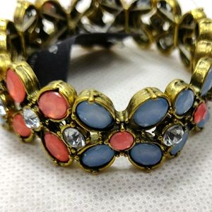 NWT Bracelet Jewlery Blue Pink Coral Vintage